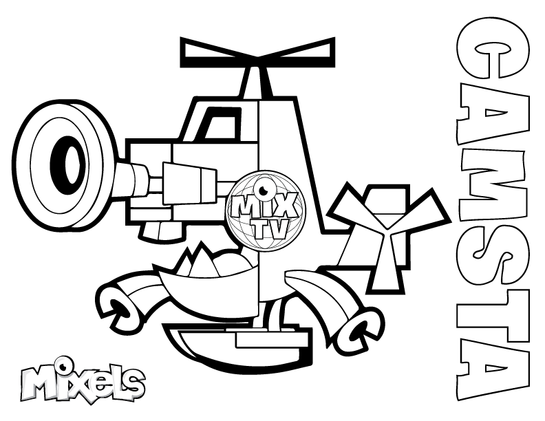 mixels coloring pages Mixels Coloring Pages | Eric's Activity Pages mixels coloring pages