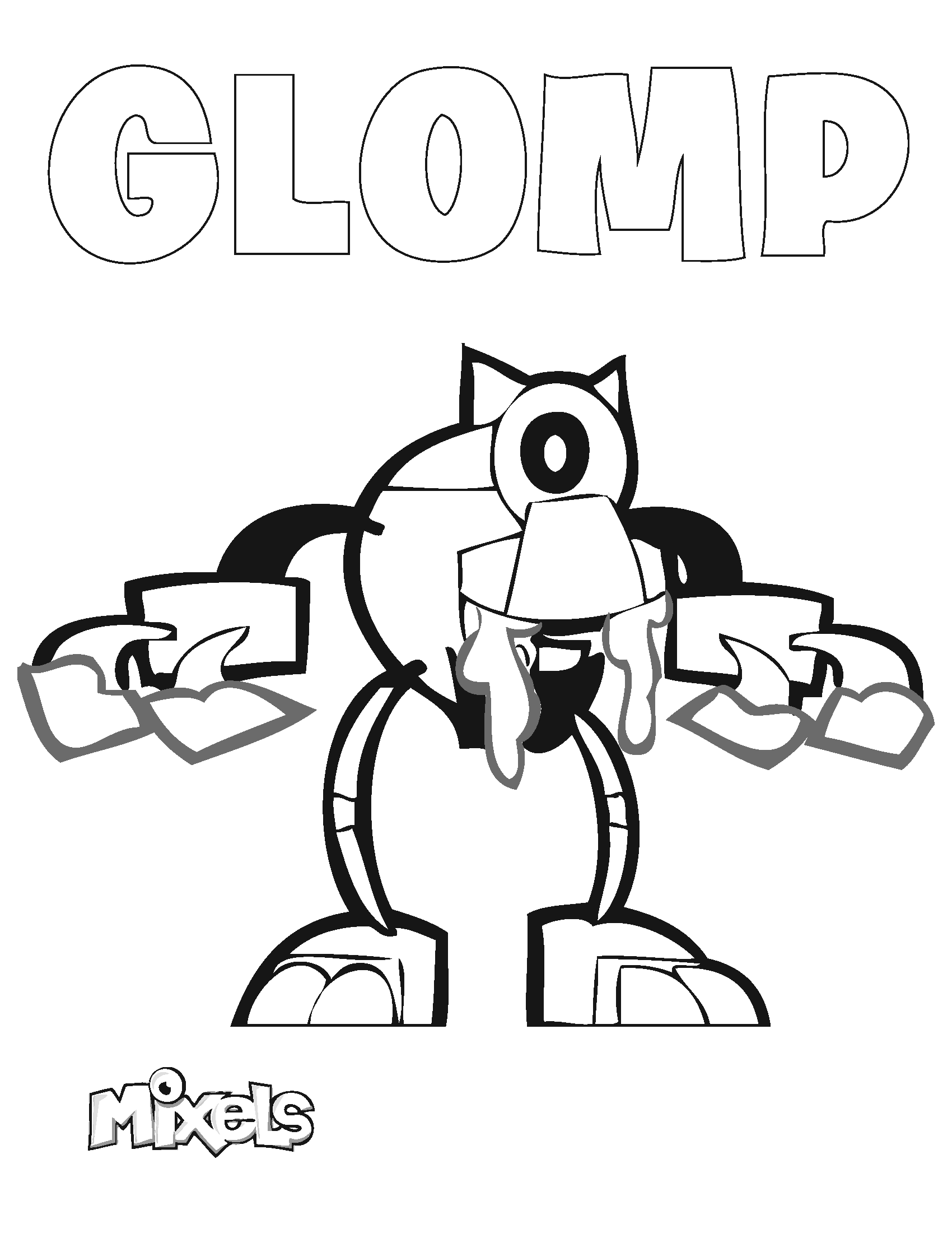 Mixels coloring page glomp eric 39 s activity pages for Lego mixels coloring pages