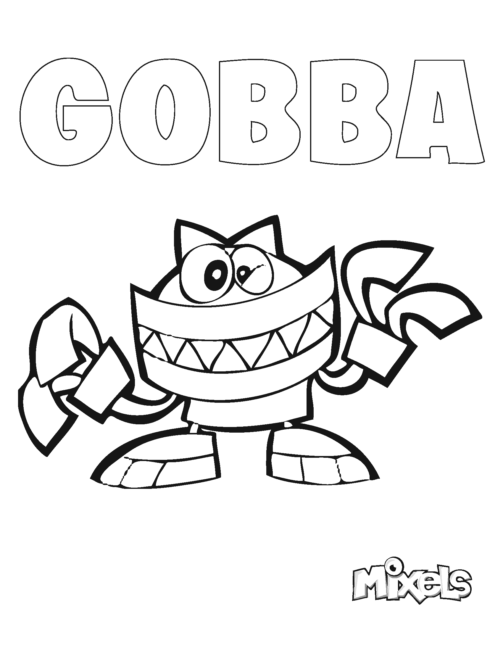 mixel coloring pages fla in - photo#14