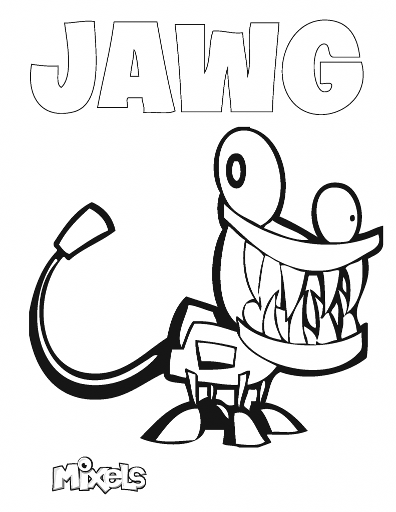 mixel-coloring-page-jawg