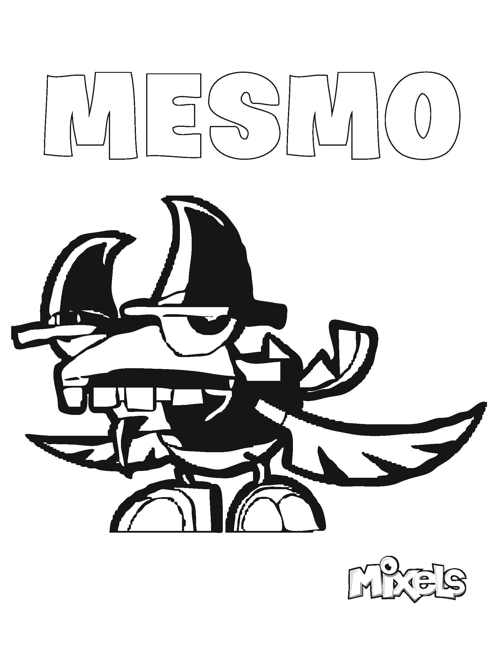 mixels coloring pages series 9 - mixels coloring page mesmo eric 39 s activity pages
