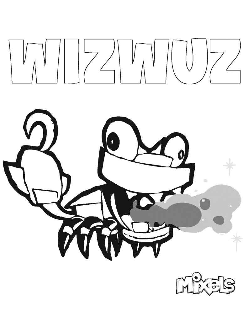 mixel-coloring-page-wizwuz