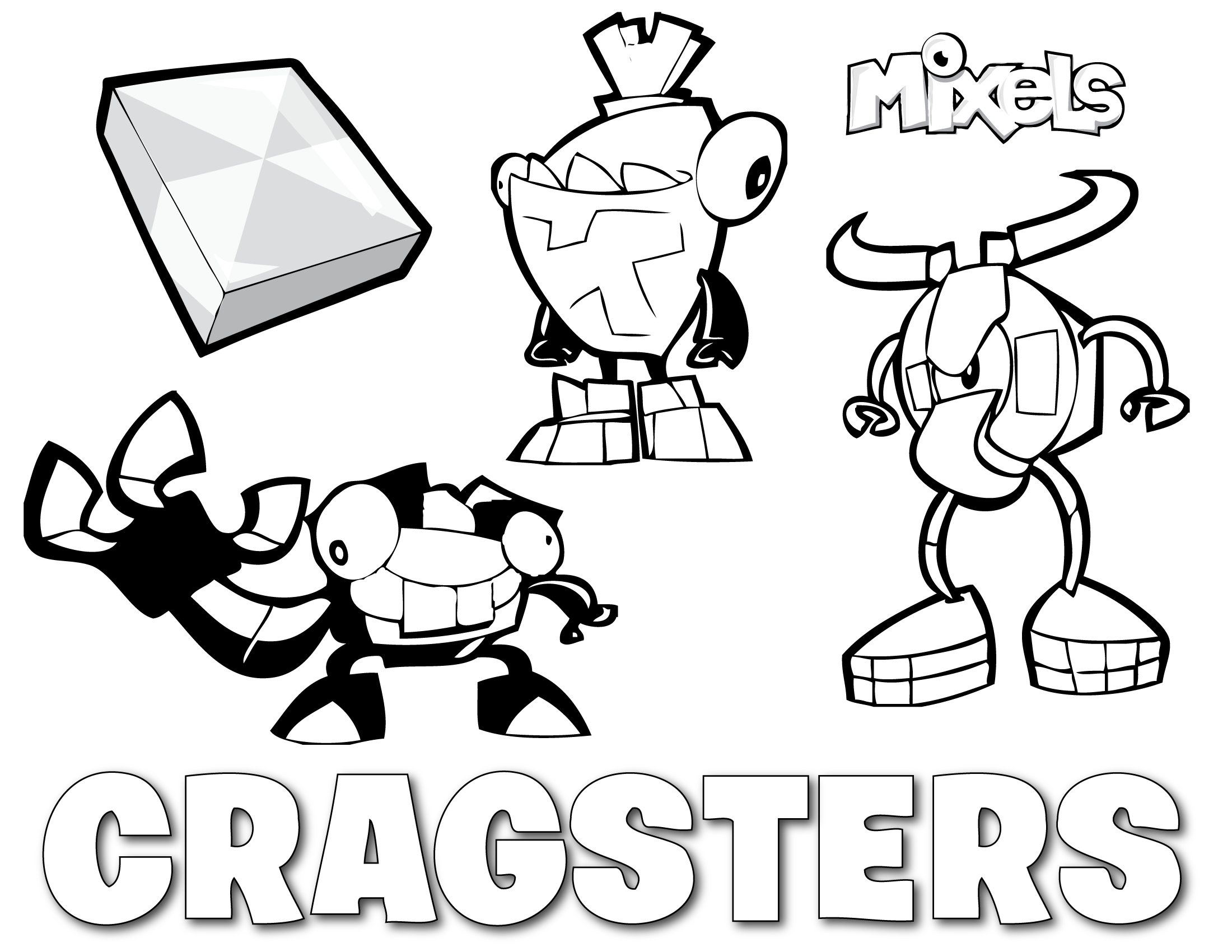 Mixels Coloring Pages Mixels Coloring Pages  Eric's Activity Pages  Page 5