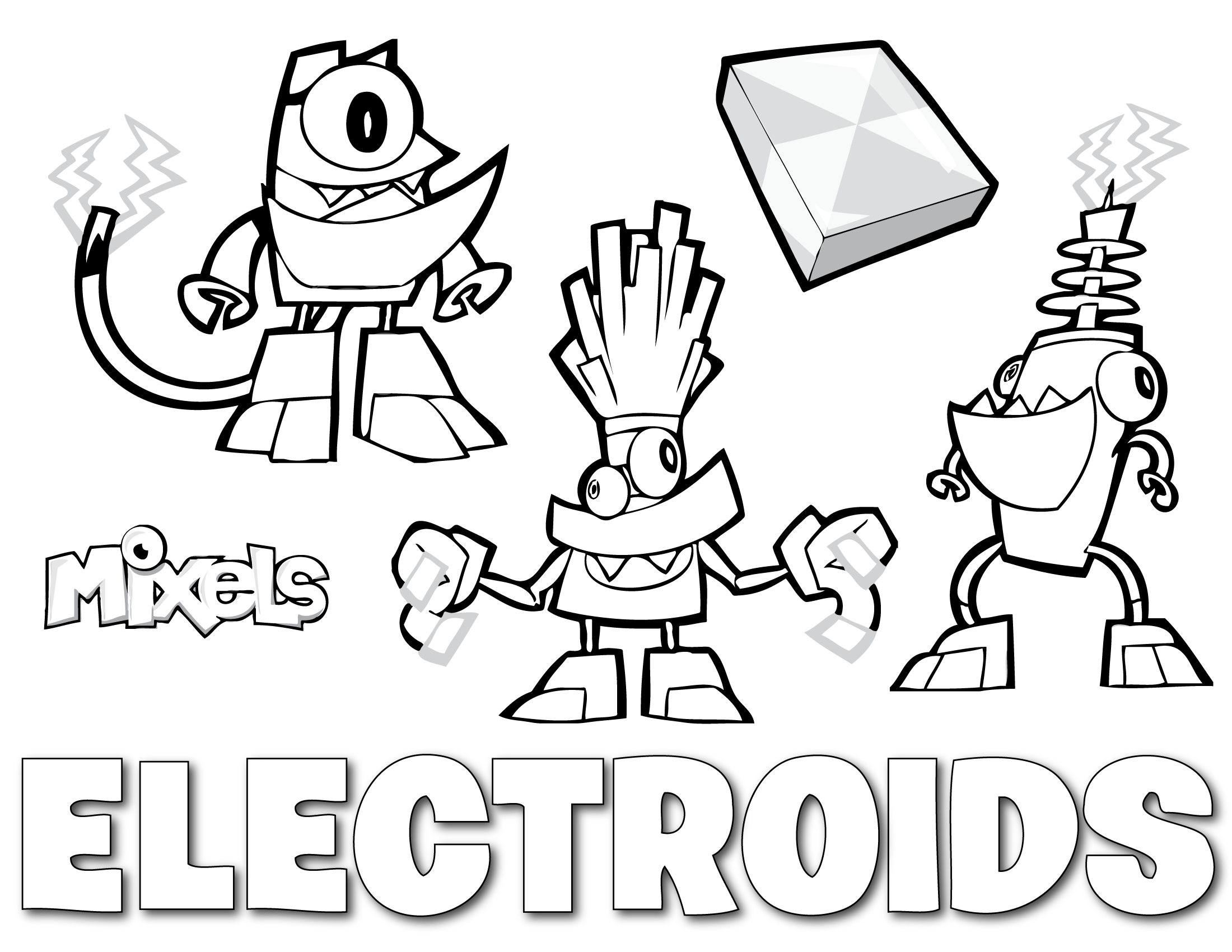 Mixels Coloring Page Electroids Erics Activity Pages