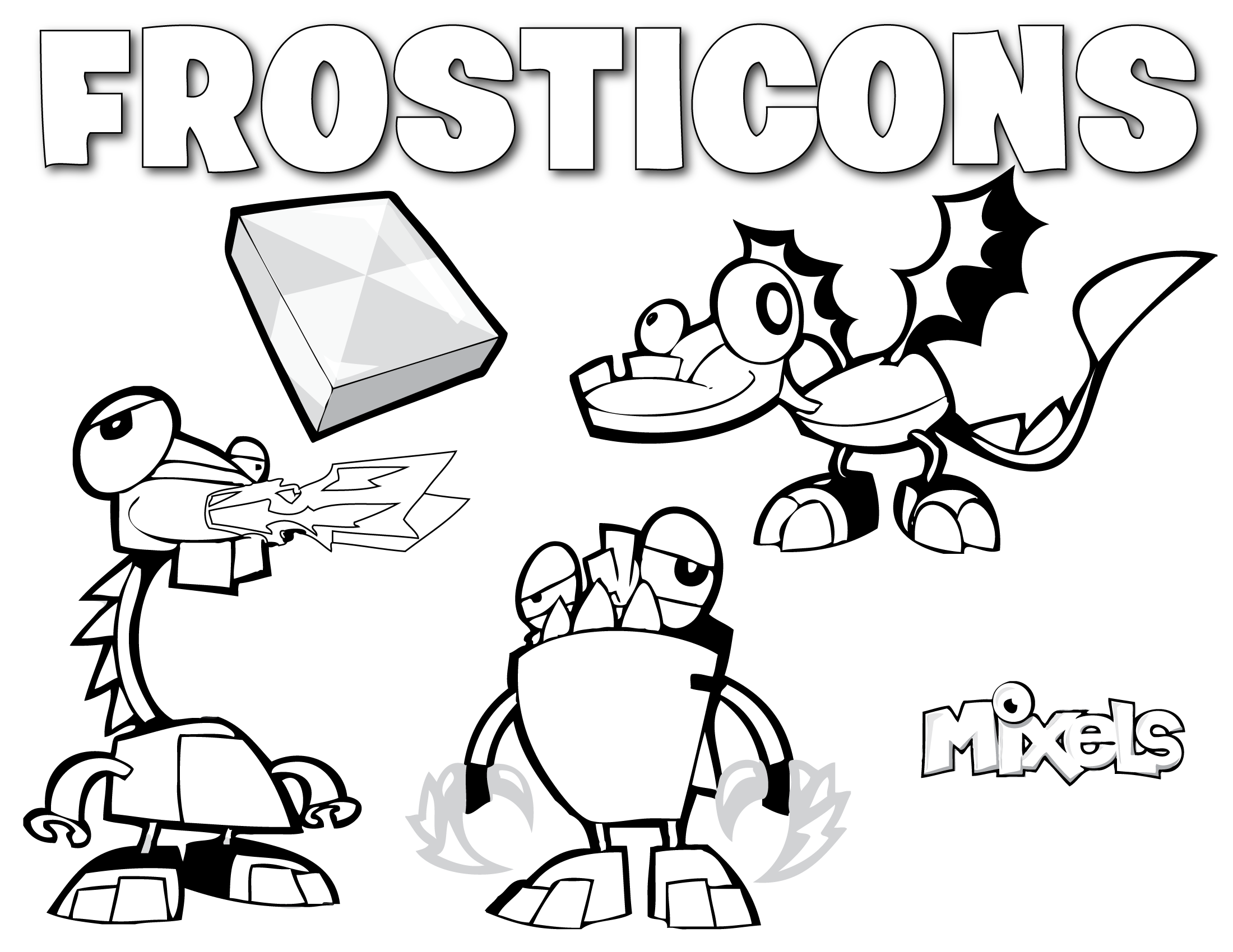 Mixels Coloring Page Frosticons Erics Activity Pages