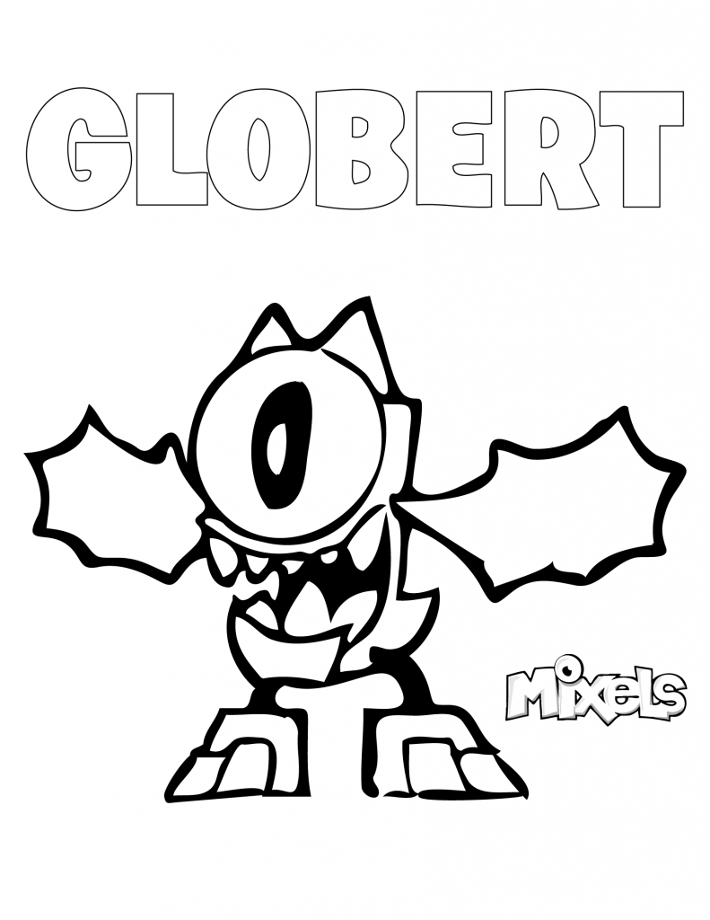 mixel-coloring-page-globert