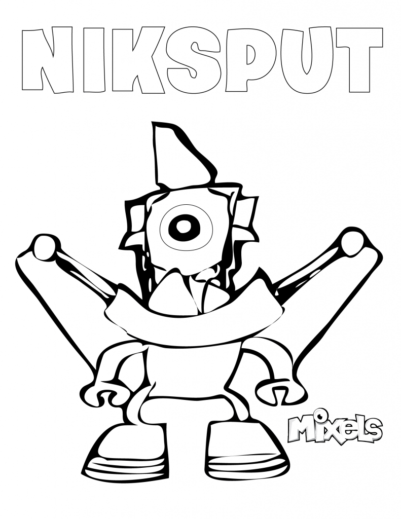 Mixels coloring page niksput eric 39 s activity pages for Lego mixels coloring pages