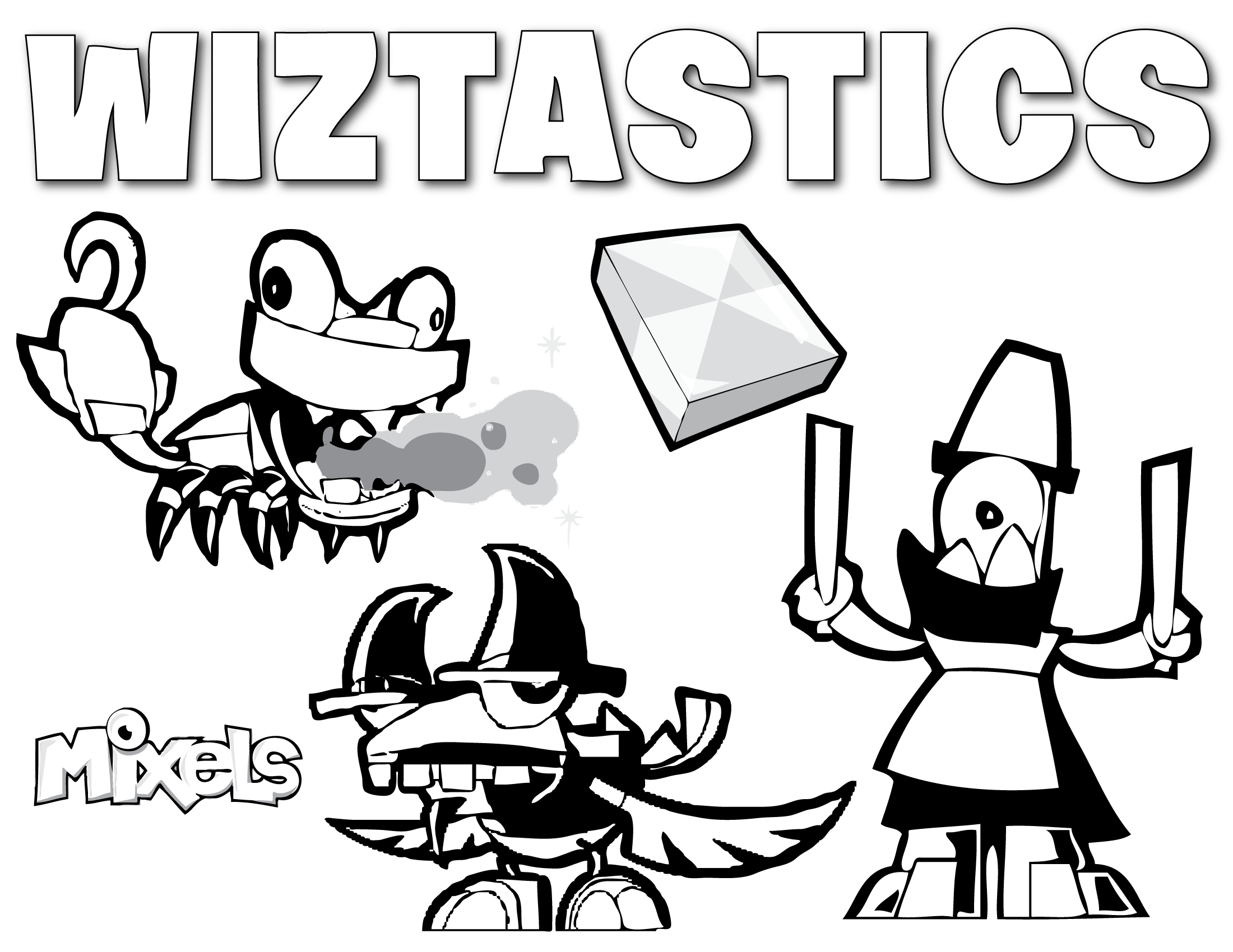 mixels coloring page for the wiztastics tribe from series 3 pdf wiztastics coloring page