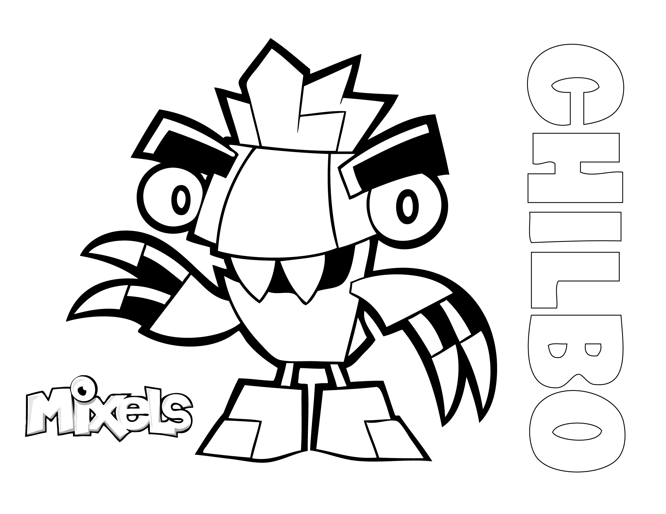 mixels coloring page for chilbo of the frosticons tribe in series 5 pdf chilbo coloring page
