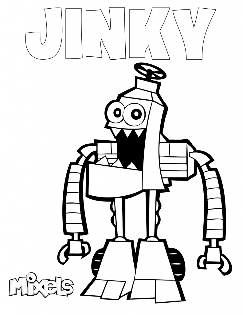 mixels-coloring-page-jinky
