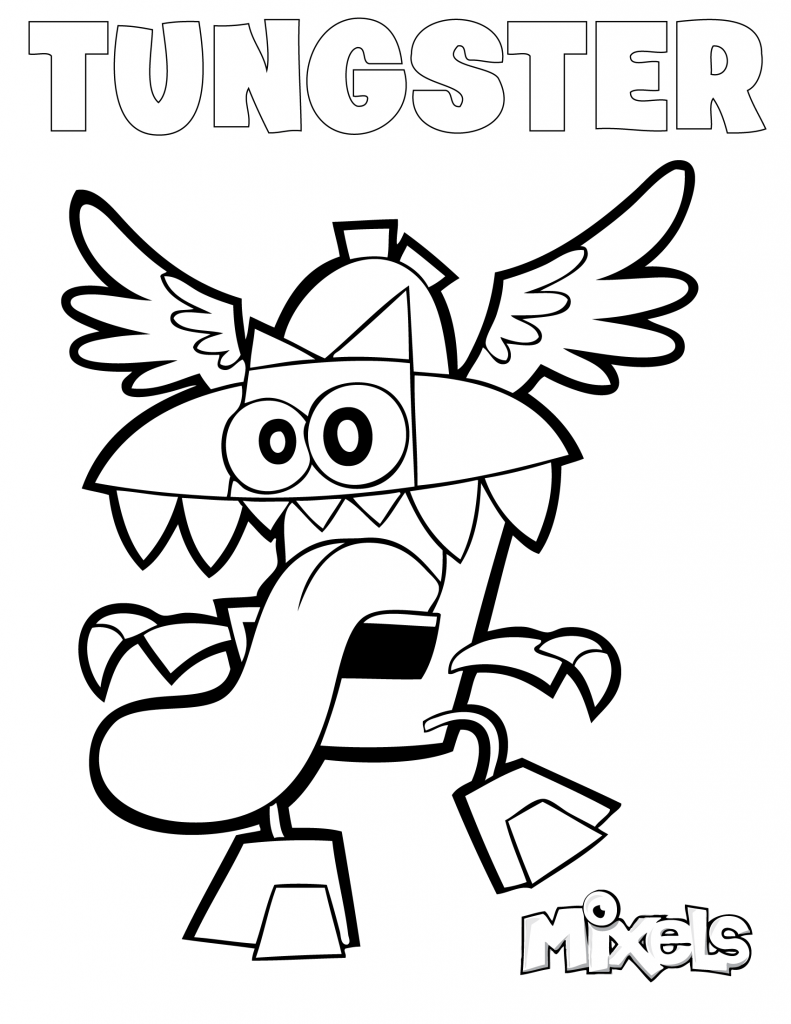 series 8 mixels coloring pages coloring pages