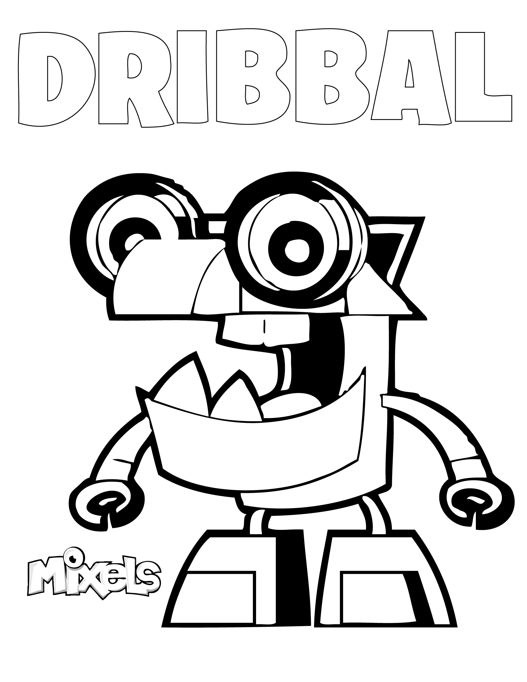 Mixels Coloring Pages Erics Activity Pages Page 2