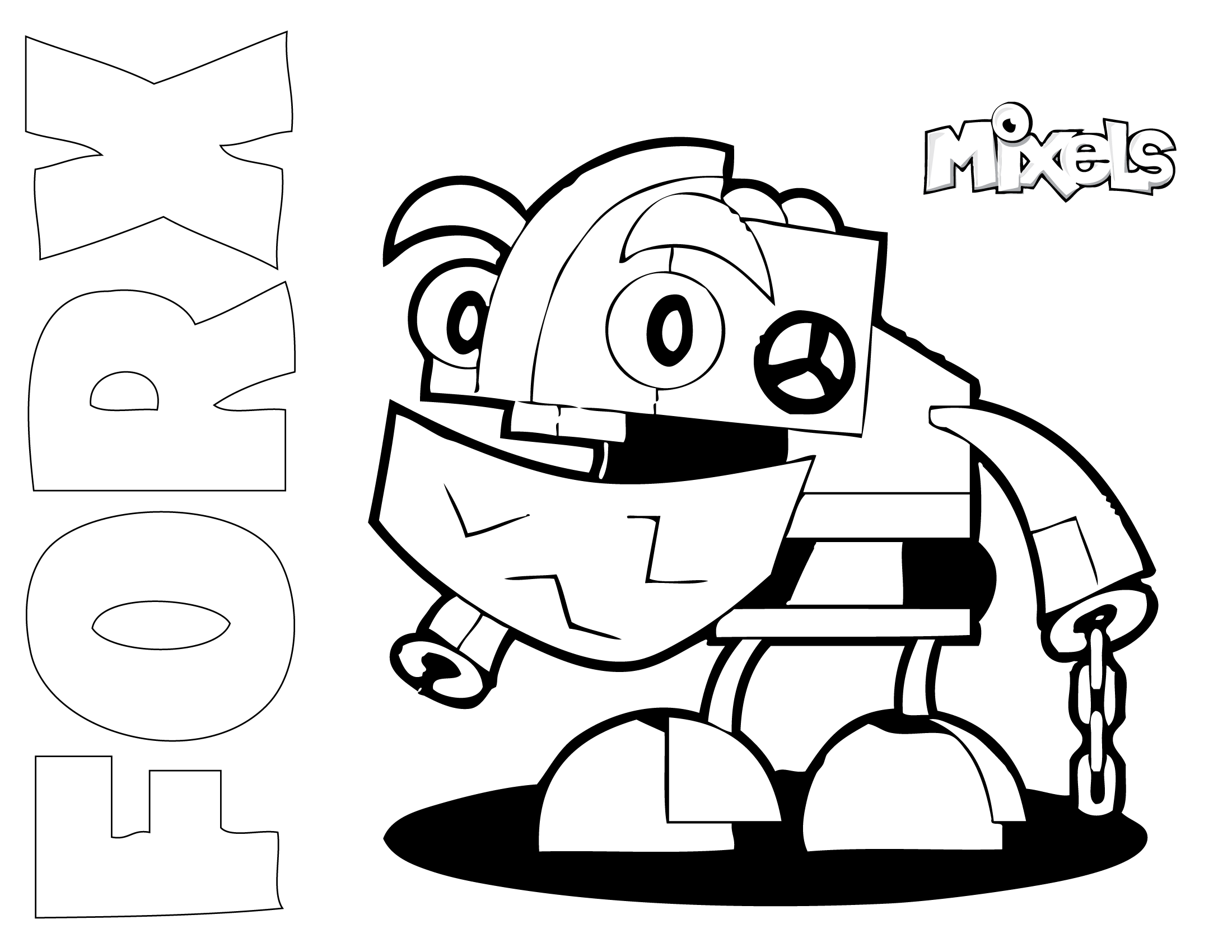mixel coloring pages fla in - photo#10