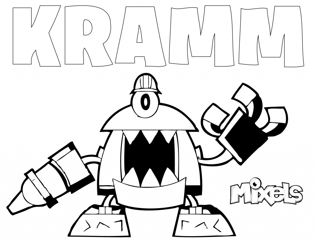 mixel-coloring-page-kramm