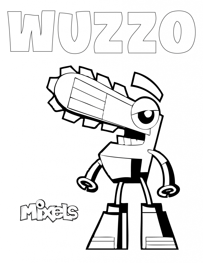 Mixels coloring page wuzzo eric 39 s activity pages for Lego mixels coloring pages