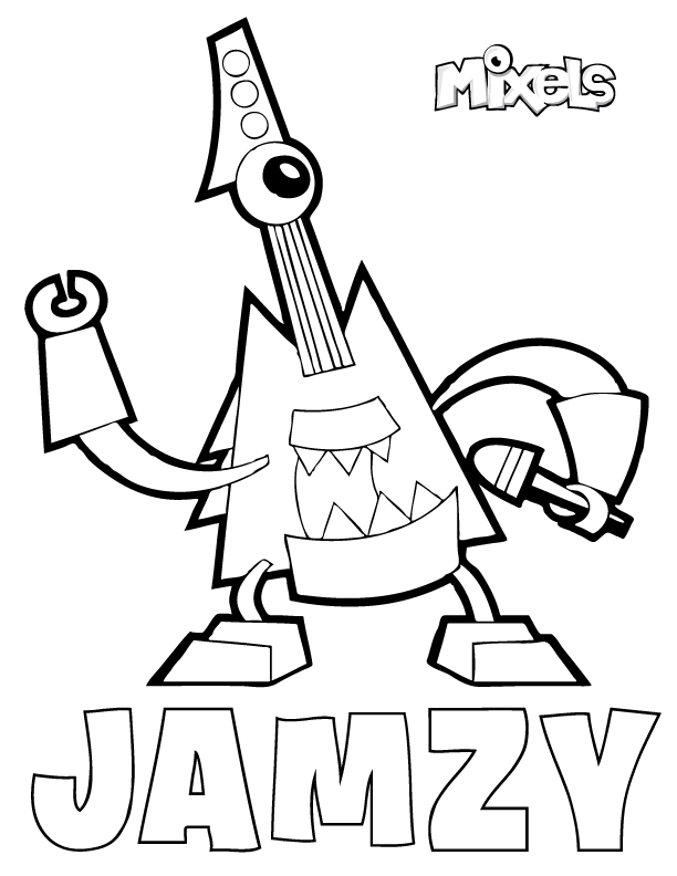 mixels coloring page for jamzy of the mixies tribe in series 7 pdf jamzy coloring page