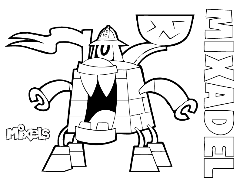 mixels coloring pages eric s activity pages